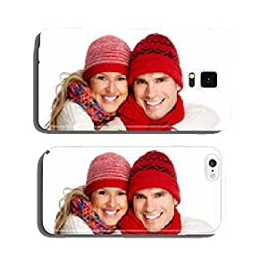 Happy christmas couple in winter clothing. cell phone cover case iPhone6 Plus