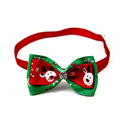 Wicemoon 1pcs Corbata de Lazo Roja Mascotas Corbata Ajustable para ...