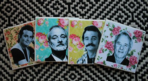 floral-bill-murray-coaster-set