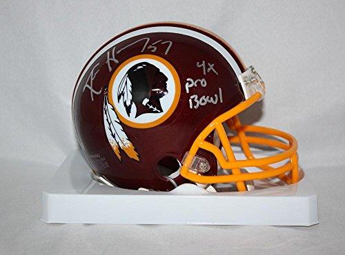(Ken Harvey Autographed Washington Redskins Mini Helmet W/ 4X Pro Bowl- Jersey Source Auth)
