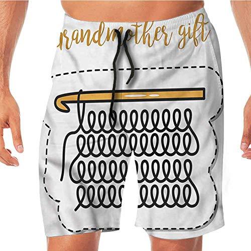 Quick-Dry Beach Running Shorts Grandma,Vintage Knitting Design Juniors Shorts L