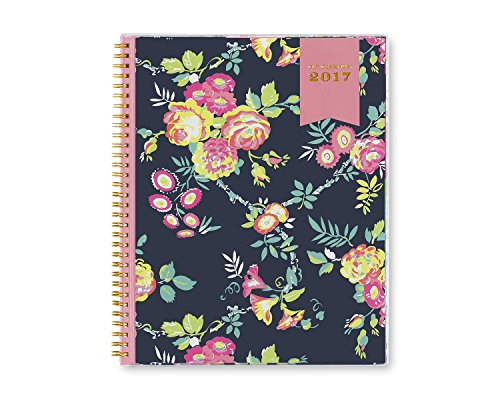 """Day Designer for Blue Sky """"Navy Floral"""" CYO (Create Your Own) Cover 8.5 x 11 Weekly/Monthly Planner, Jan 2017 - Dec 2017"""