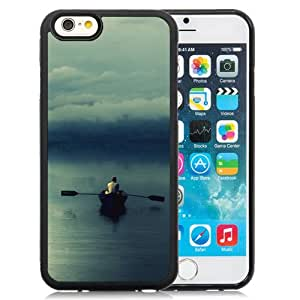 New Fashion Custom Designed Skin Case For iPhone 6 4.7 Inch TPU Phone Case With Man Boating On The Lake Phone Case Cover