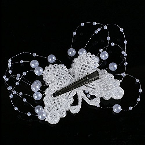 Vintage Wedding Hair Pin Headdress Handmade Pearl Butterfly Hair Clips