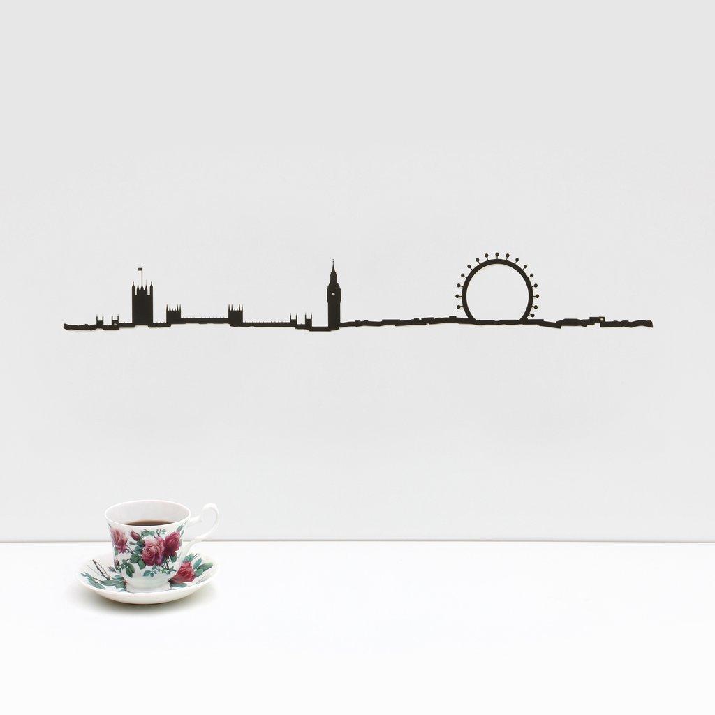 TheLine Skyline Profilo Londra Nero 50 Centimeter Decorazione Parete MORONI GOMMA