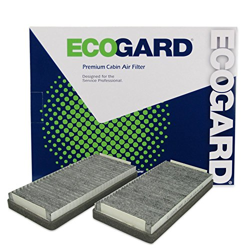 ECOGARD XC18153C Cabin Air Filter with Activated Carbon Odor Eliminator - Premium Replacement Fits Mercedes-Benz E320, S430, S500, E430, E420, E300, CL500, S55 AMG, E55 AMG, S600, CL55 AMG, S350 (Amg Cl55)