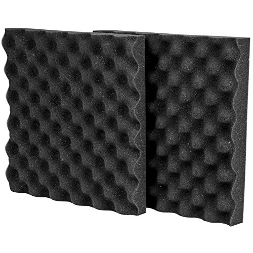 "Parts Express Acoustic Sound Damping Eggcrate Foam UL 94 Fire Retardant 1-1/2"" x 12"" x 12"" Two Pieces"