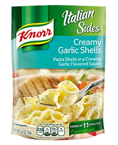Knorr, Pasta Sides, 4.4 Ounce Pouch (Pack of 6) (Creamy Garlic Shells)