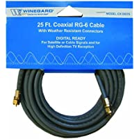 Winegard CX-0625 25feet RG6 Coax with Weatherproof Connectors
