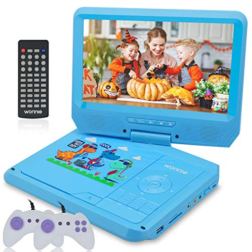 Read About WONNIE 11.5'' Kids Portable DVD Player with 9.5'' Swivel Screen, Games/USB/SD Card Re...