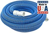 Poolmaster 33430 Heavy Duty In-Ground Pool Vacuum Hose With Swivel Cuff, 1-1/2-Inch by 30-Feet (Certified Refurbished)