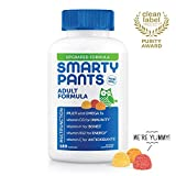 Daily Gummy Multivitamin Adult: Biotin, Vitamin D, C, D3, E, B12, A, Omega 3 Fish Oil, Zinc, Iodine, Choline, Folate (Methylfolate) by Smartypants (180 count, 30 Day Supply) Packaging May Vary