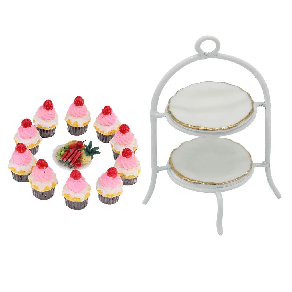 STRAWBERRY CREAM CAKE 1//12 Scale Dollhouse Miniatures Dessert Kitchen Party