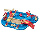 BS Water Play Set for Kids Outside Sand Table Flatbed Truck Boat Wave Maker Bridges Gates Indoor Garden Beach Camping Toy Activity Children Fun Bright Colors & eBook by BADA Shop