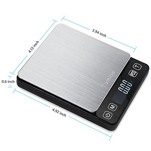 Small Electronic Pocket (Digital Touch Pocket Scale 0.01oz - Tomiba 3000g Small Portable Electronic Precision Scale (0.1g) Resolution 2 AAA Batteries Included)