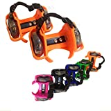 Kid Wheel Heel Roller Light up Adjustable Skates Adult Falsh Shoe Strap