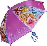 Disney Girls Princess Umbrella With 3D Handle Purple