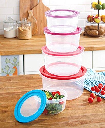 10 Pc. Oversized Colorful Food Storage Kitchen Bowl Set