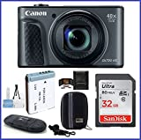Cheap Canon PowerShot SX730 HS Digital Camera (Black) Bundle; Includes: 32GB SDHC Class 10 Memory Card + Spare Battery + Camera Case and more …