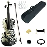Kinglos 4/4 White Sunflower Colored Solid Wood Acoustic / Electric Violin Kit with Ebony Fittings Full Size (YSDS1310)