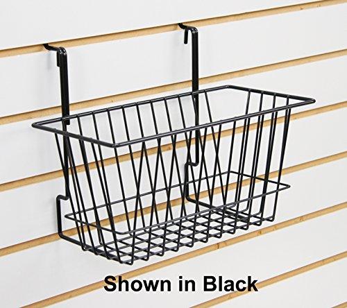 5 Pc Black Narrow Universal Basket for Pegboard, Slat/Grid Wall 12''W x 6''D x 6''H