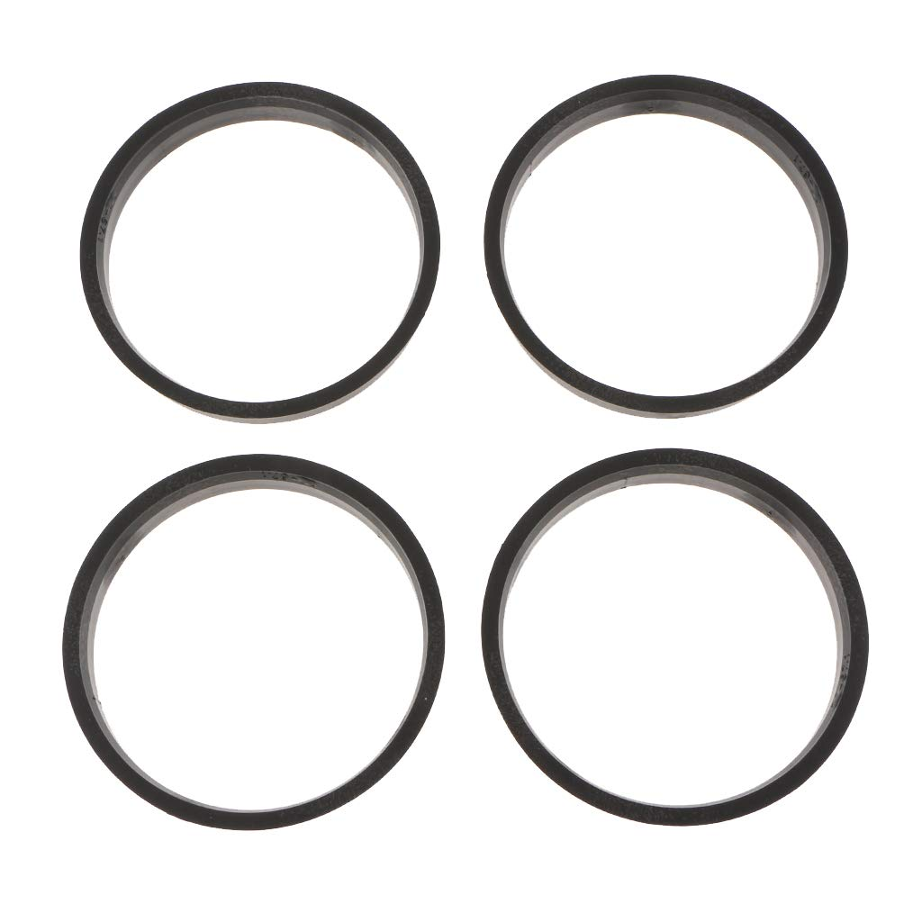 Pack of 4 B Blesiya Hubcentric Rings Black Poly Carbon Plastic Hubrings Hub Only Works on 67.1mm Vehicle Hubs /& 73.1mm Wheel - 67.1mm ID to 73.1mm OD