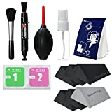 LS Photography Photo Camera Cleaning Brush Kit Cleaning Set for DSLR Cameras, Lens and Sensitive Electronics with (6 PCS.) 6'' x 7'' SuperFiber Lens Cleaning Cloth, LGG167