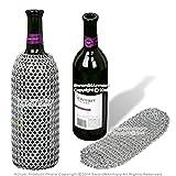 Medieval Gears Brand Medieval Style Aluminum Chainmail Wine Bottle Holder Koozie Renaissance LARP SCA