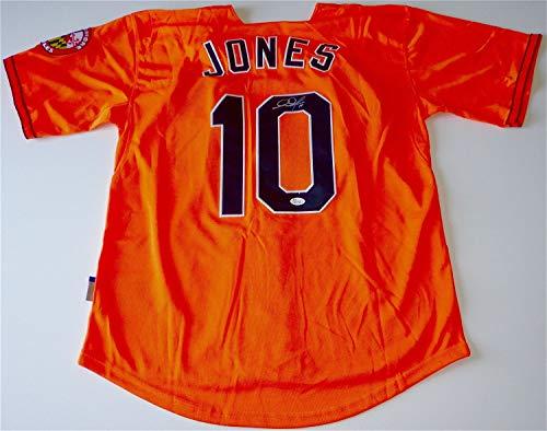 - Adam Jones Baltimore Orioles Autographed Signed Alternate Orange Jersey Memorabilia JSA K27307