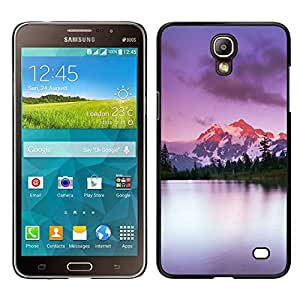LECELL--Funda protectora / Cubierta / Piel For Samsung Galaxy Mega 2 -- Escalar montañas de Alaska Lago Naturaleza --