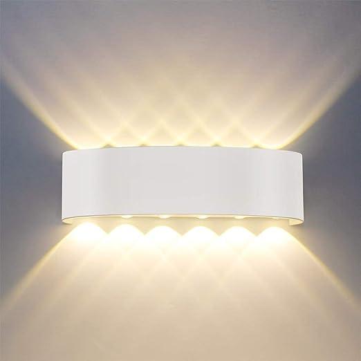 Lampada da parete,Moderno 12W LED Interni Applique da parete ...