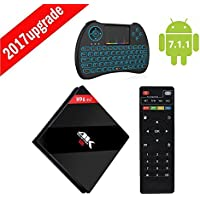 [3G RAM + 32G ROM ] Yongf H96 Plus TV Box Amlogic S912 Octa Core Smart Box Android 7.1 Dual WiFi 2.4G/5.0GHz Bluetooth 4.1 with Wireless Colorful Backlit Keyboard