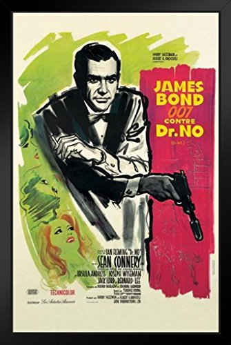 James Bond Dr No French Framed Poster 11x17 inch