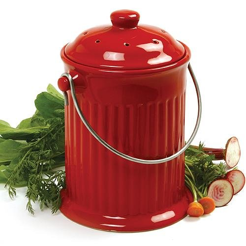 Odor Free Compost Keeper Ceramic Crock