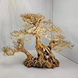 Aquarium moss tree - Bonsai Driftwood on rock - BLS - 12 inches tall