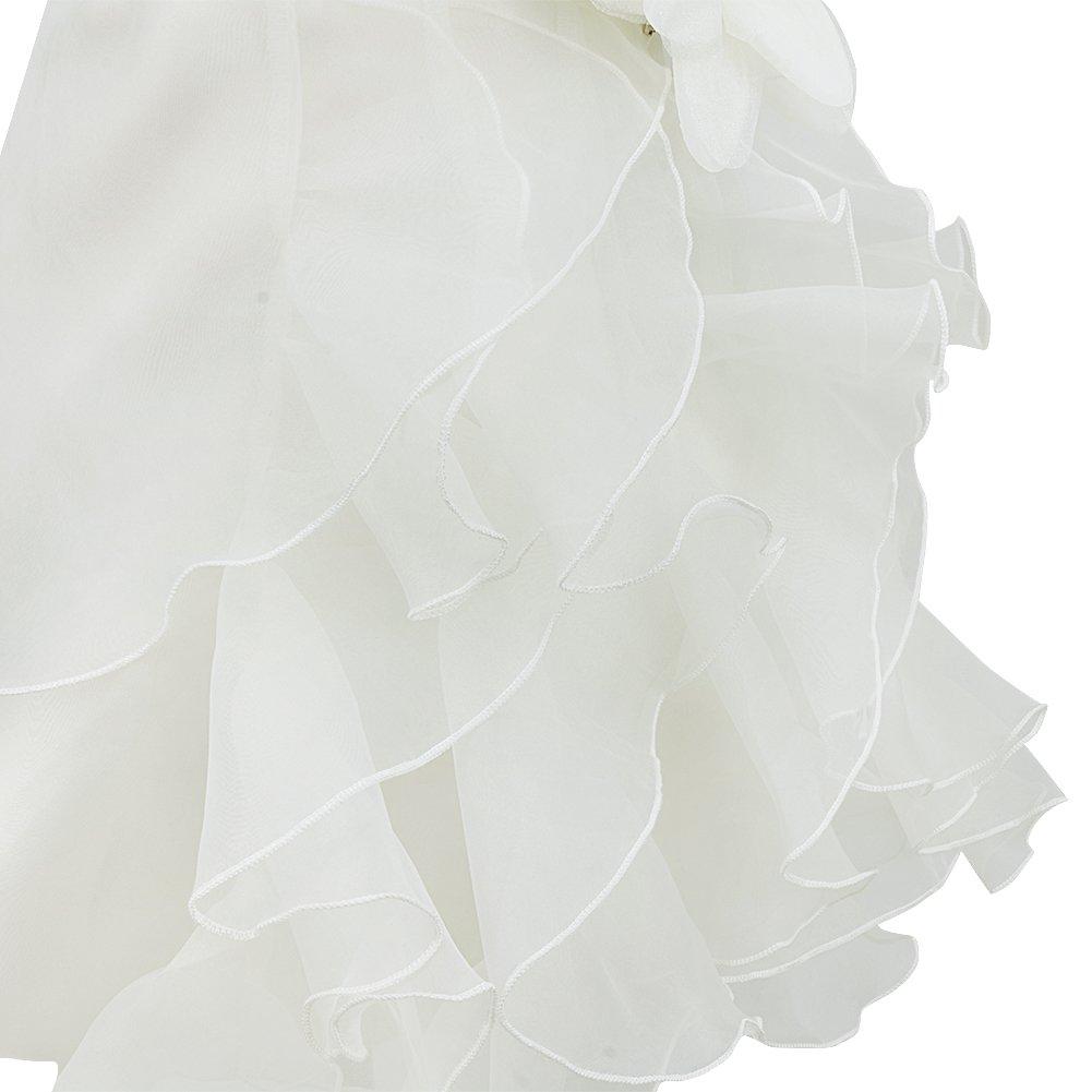 FEESHOW Baby M/ädchen Kleider Festlich Taufkleid /Ärmellos Rundhals mit 3D Blume und Strasssteine Blumenm/ädchenkleid Partykleid Sommer Hochzeit Gr.62-98