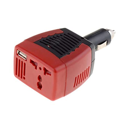 iBàste Inversor de Corriente para automóvil USB 2.1A 150w DC ...