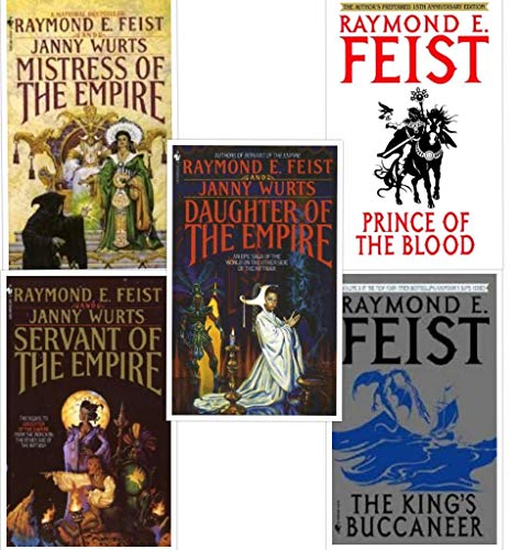 5 Books in the Riftwar Cycle: The Empire Trilogy & Krondor's Sons (Set Includes: Daughter of the Empire, Servant of the Empire, Mistress of the Empire, Prince of Blood and The King's Buccaneer)