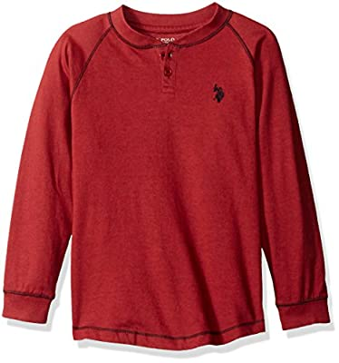 U.S. Polo Assn. Boys' Long Sleeve Henley Shirt