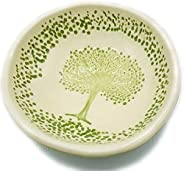 B JANECKA Tree of Life Soap Dish or Ring Tray, 5.25 Inches, Handmade in USA, Pottery 9th Anniversary Gift
