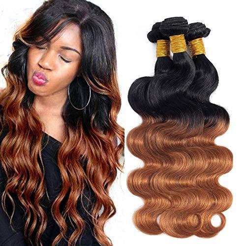 Ombre Brazilian Hair Body Wave Bundles 3pcs,Ombre Brazilian Virgin Hair Human Hair Weave - Hair Human Weave Ombre