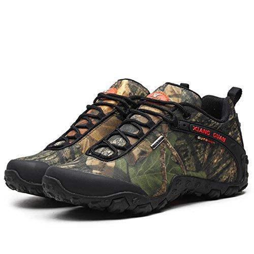 Xiang Guan Scarpe Outdoor Unisex Trekking Vagabondaggio Scarpe Basse Sneakers Antiscivolo Idrorepellente 81289 Camouflage