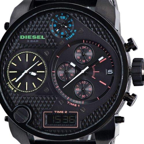 Diesel , DZ7266 , Montre Homme , Quartz Chronographe , Chronomètre/ Aiguilles lumineuses , Bracelet Acier Inoxydable Plaqué Noir Diesel Amazon.fr Montres