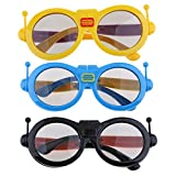 Homyl 3Pieces Children's Kids Sized Passive 3D Glasses, for LG, Panasonic, Vizio and all Passive 3D TVs & RealD 3D Cinema Glasses
