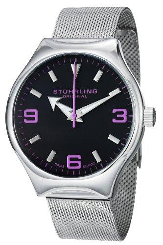 Stuhrling Original Men's 'Aviator' Swiss Quartz Stainless Steel Sport Watch (Model: 184.331183)