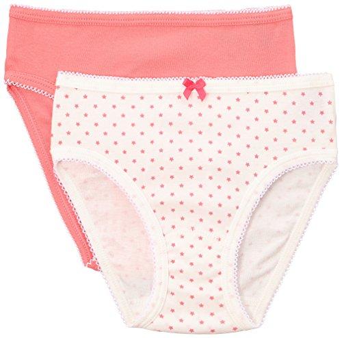 PETIT BATEAU GIRLS UNDERWEAR SET OF 2 GIRL`S 100% COTTON PANTIES PINK-SMALL STARS SIZES 2-12 STYLE12048 (SIZE 8 STYLE (Petit Bateau Cotton Panties)