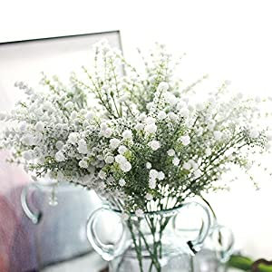 MSOO Artificial Gypsophila Floral Flower Fake Silk Wedding Party Bouquet Home Decor 36