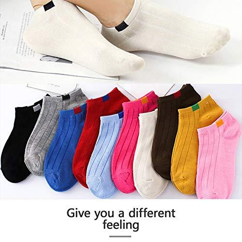Lovescenario Spring Fashion Creative Charming Warm Sock Low Invisible Socks Women's Socks Cotton Personality Striped Socks Unique's(Color:Brown)(Size:)