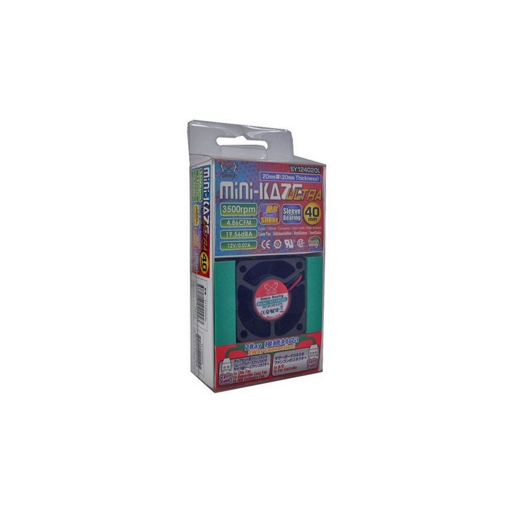 Ventilador para Caja de Ordenador Scythe Mini Kaze Ultra 3500 RPM, 4.86 CFM, 12 V Negro