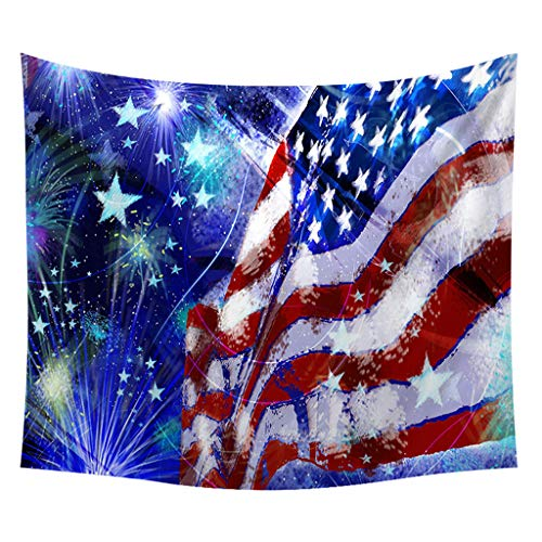 (JustWin Fashion Novel Independence Day Print Home Tapestry Wall Hanging Wall Decoration Comfortable Tapestry Wall Hanging )